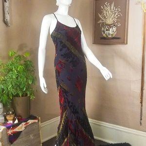 Velvet Burnout Maxi Slip Dress Betsey Johnson